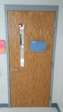 Classroom Door Lockdown Shade