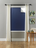 LARGE (45 x 66 inches) - Navy Blue/White