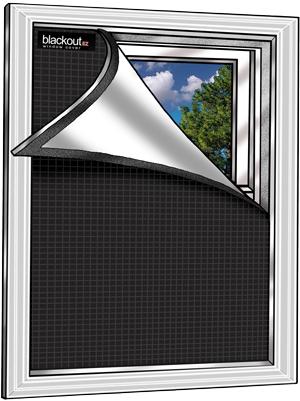 Blackout Ez Window Cover L Small 36 X 48 L Black White L